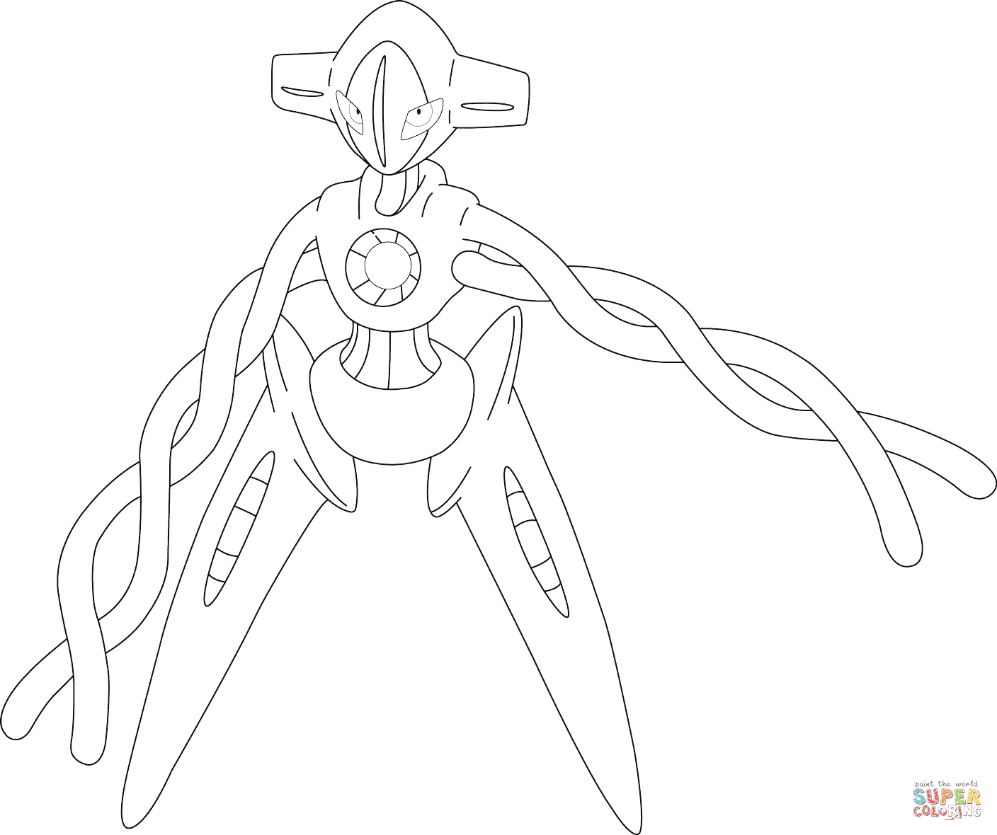 Click the deoxys pokemon coloring pages to view printable version or color it online compatible with ipad and android tablets