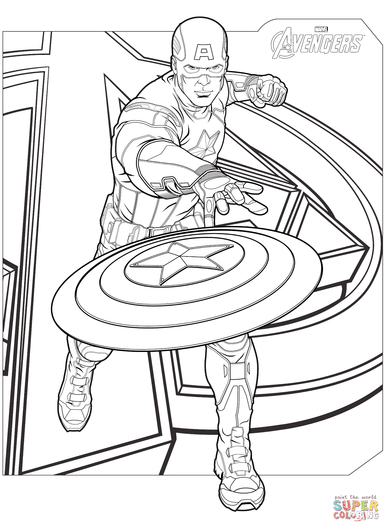 Click the avengers captain america coloring pages to view printable version or color it online compatible with ipad and android tablets