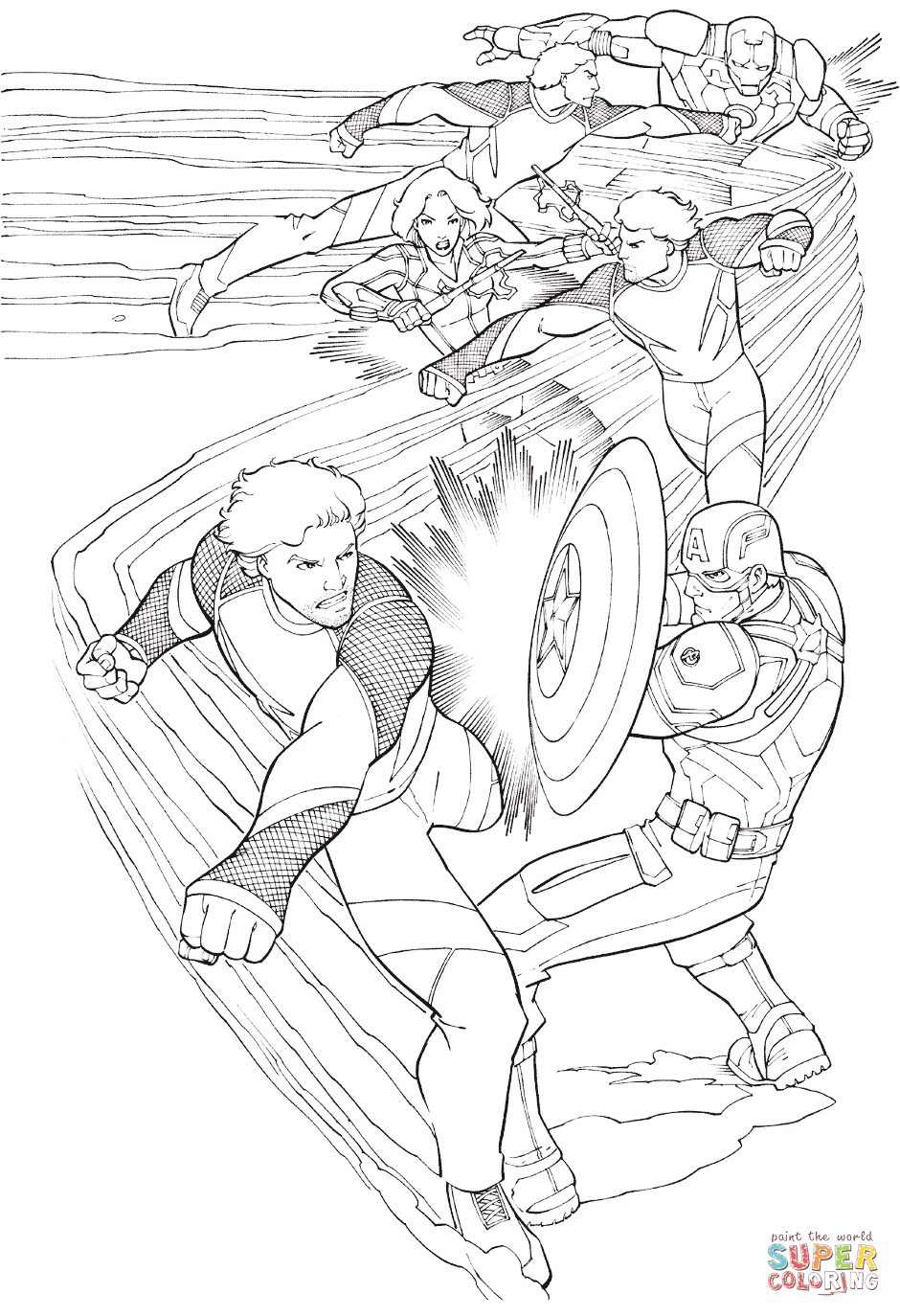 Click the avengers quicksilver coloring pages