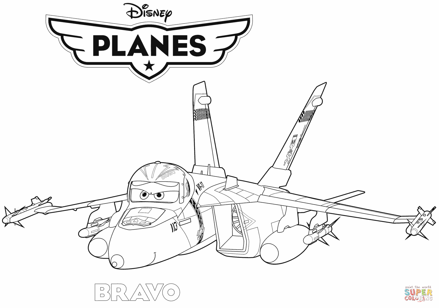 Coloring pages jets - Coloring Pages Jets Jet Fighter Bravo Coloring Pages To View Download