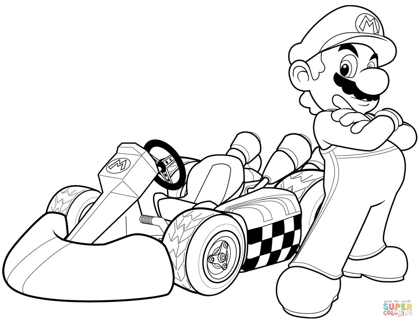 Click the mario in mario kart wii coloring pages to view printable version or color it online compatible with ipad and android tablets