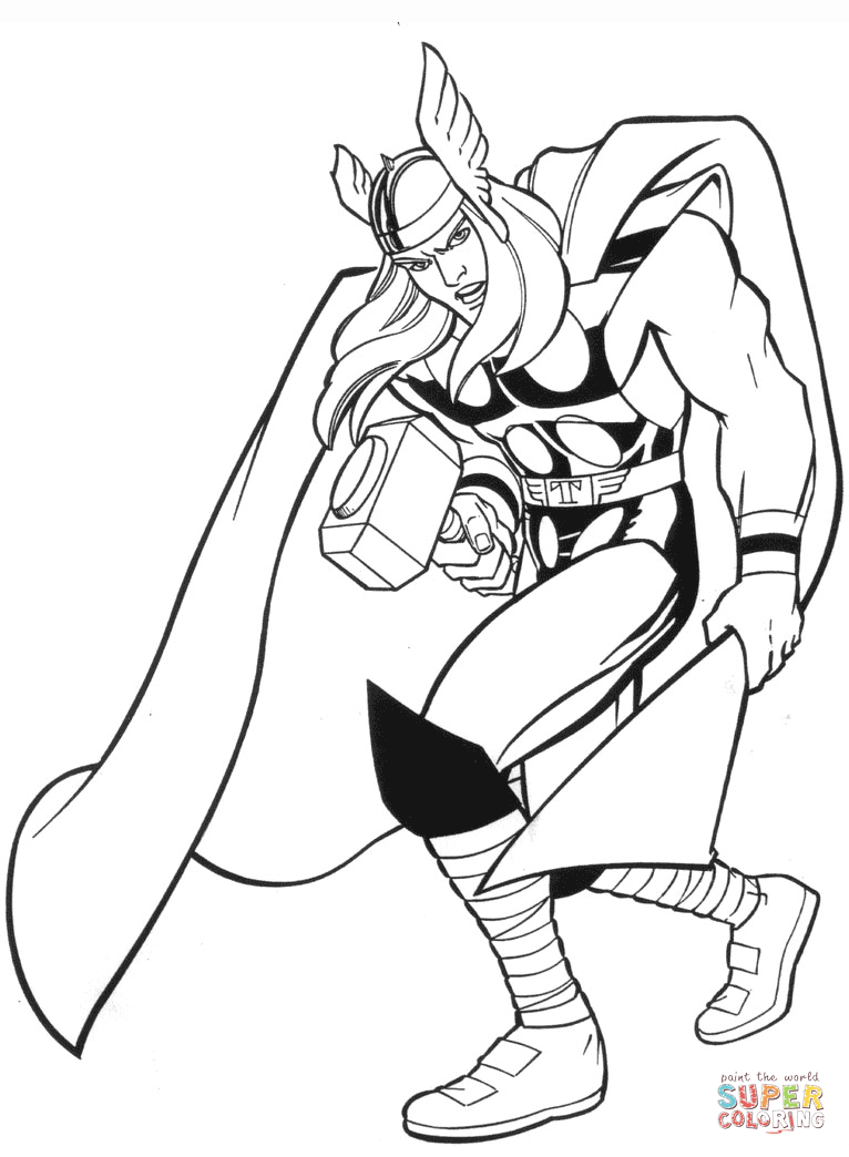 Printable Coloring Pages Marvel