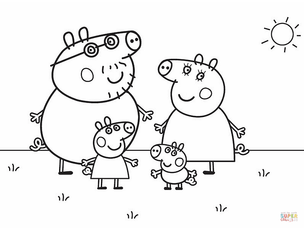 Peppa pig s family