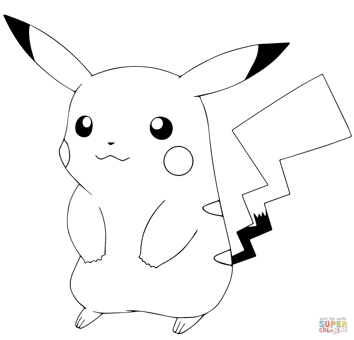 Click the pok mon go pikachu coloring pages