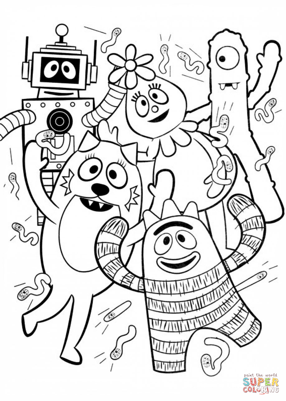 Click the yo gabba gabba coloring pages