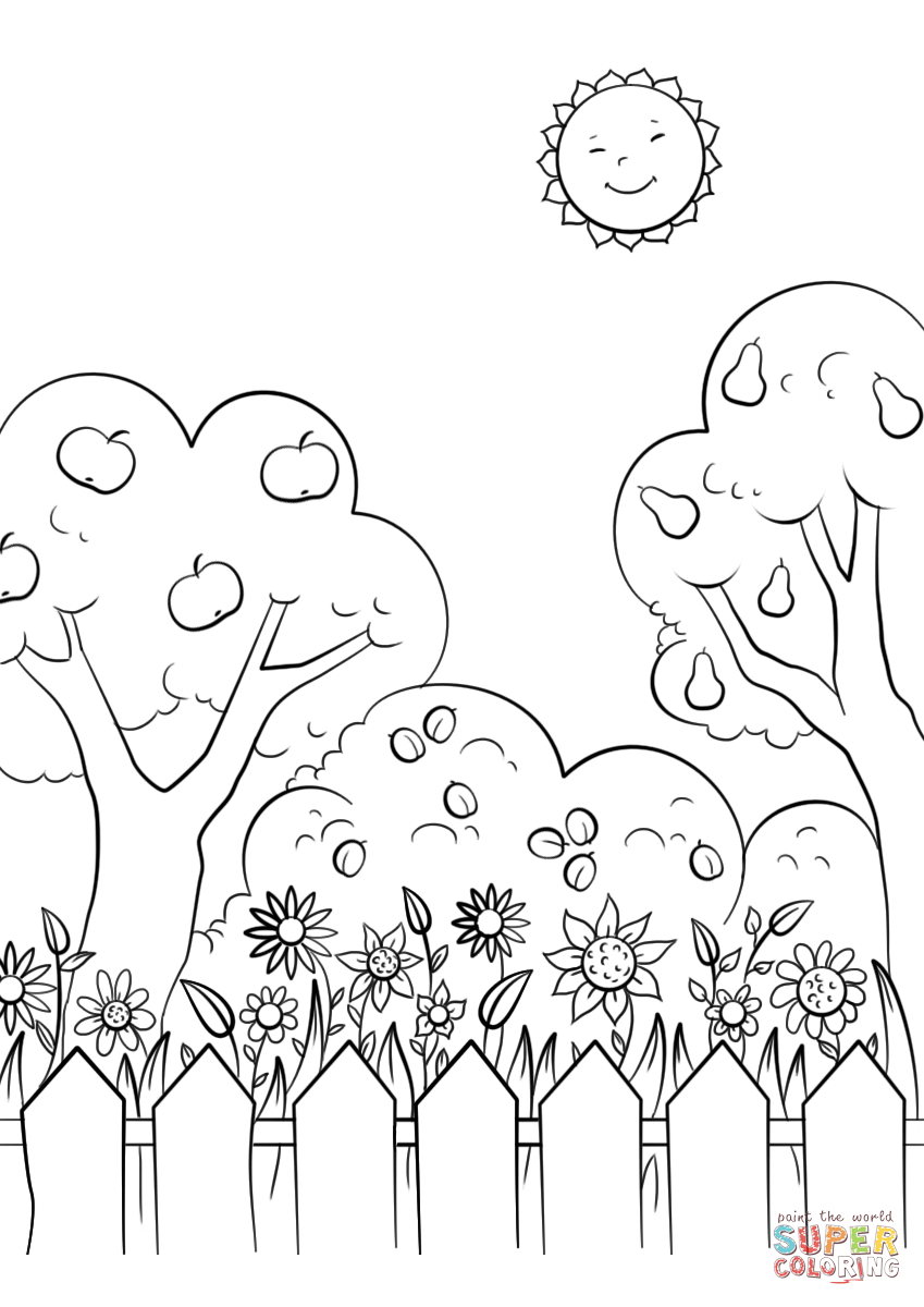 Coloring pages garden -  Garden Coloring Pages To View Printable Download