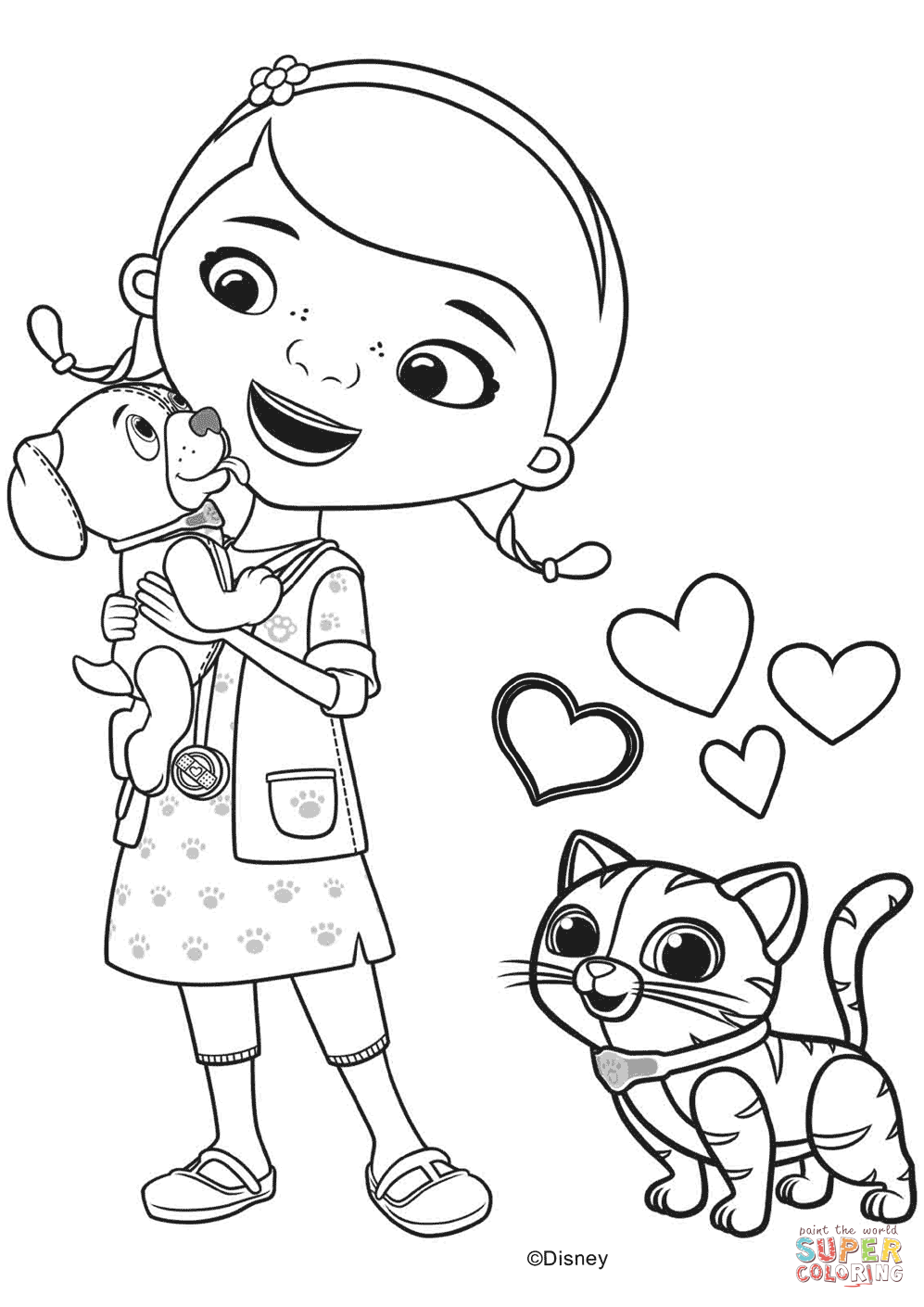 Click the doc mcstuffins with findo and whispers coloring pages to view printable version or color it online compatible with ipad and android tablets