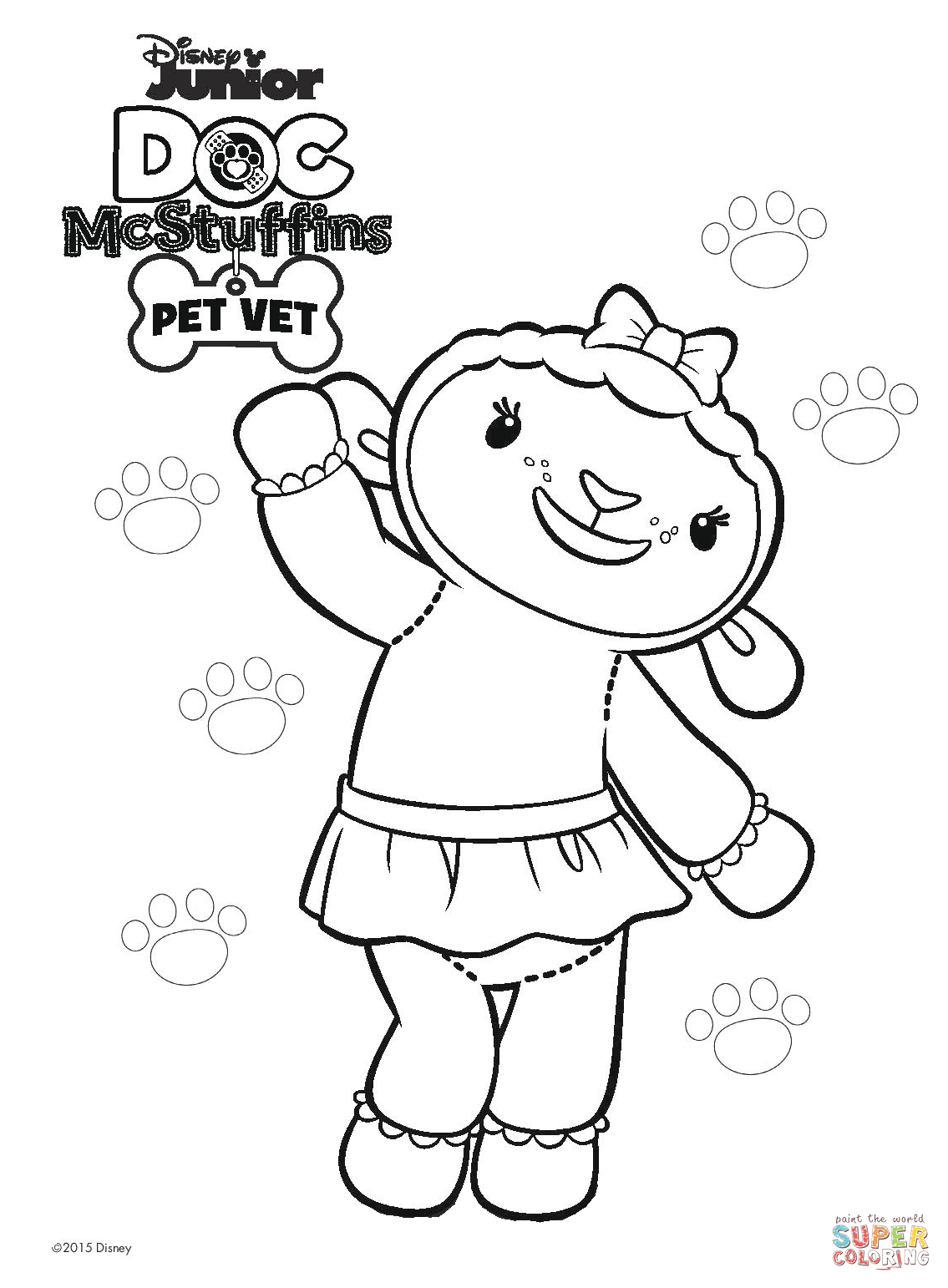 Happy Birthday Doc Mcstuffins Coloring Page Pages