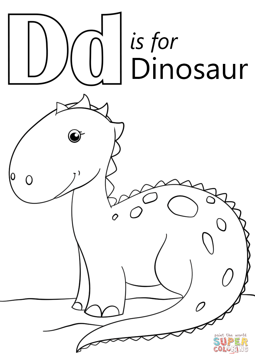 Dinosaur Letter Coloring Pages