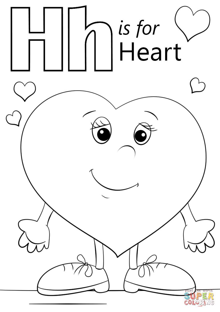 98 Heart Coloring Pages For Kindergarten