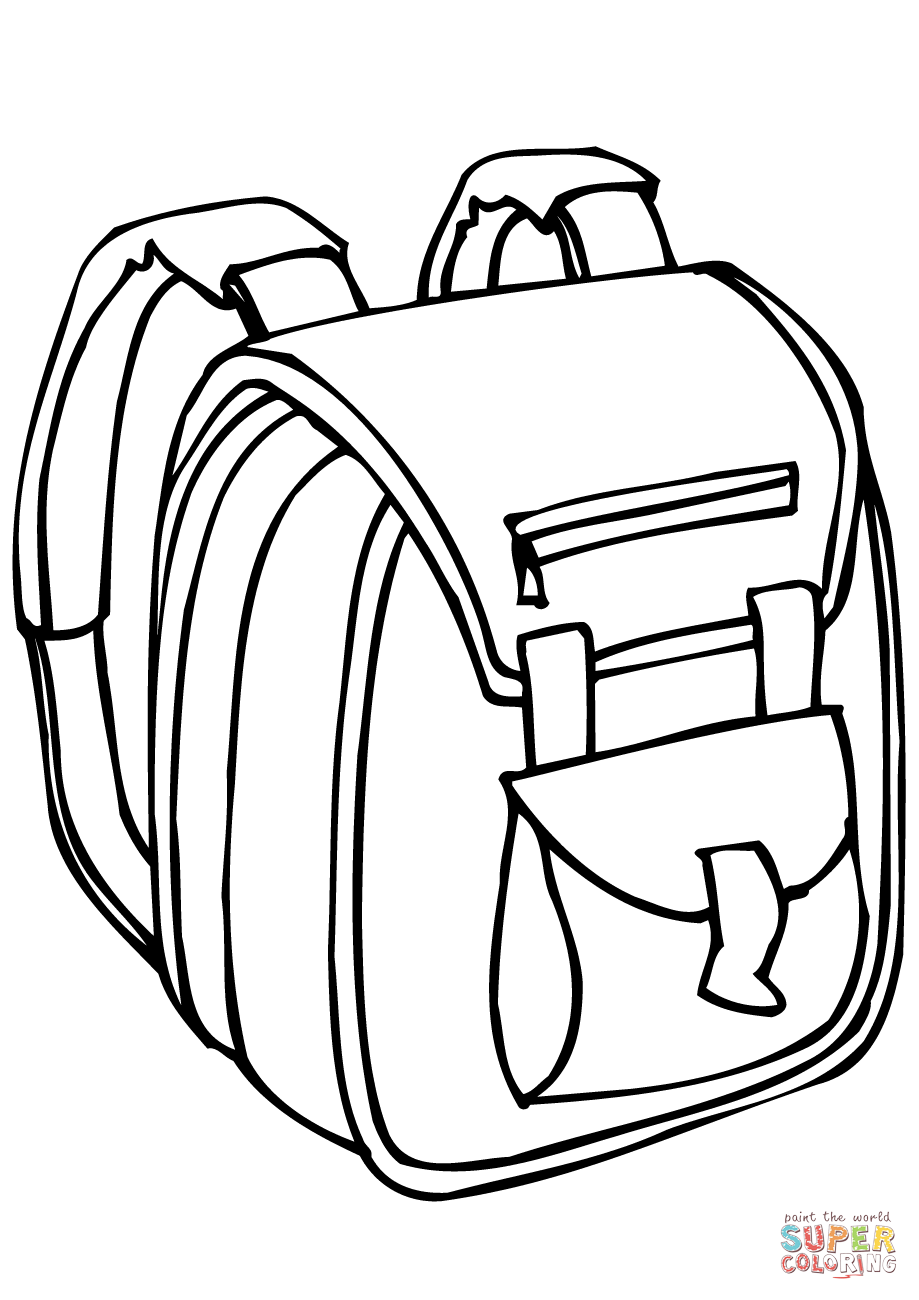 Click the school bag coloring pages to view printable version or color it online compatible with ipad and android tablets