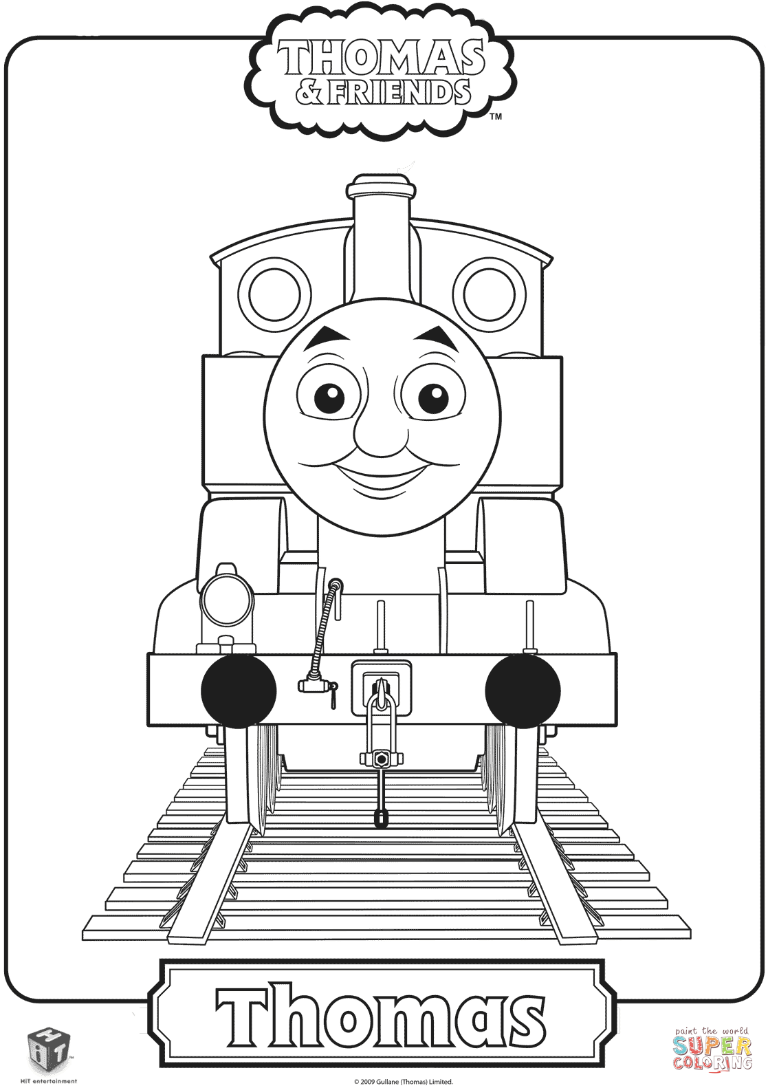 Click the thomas the train coloring pages
