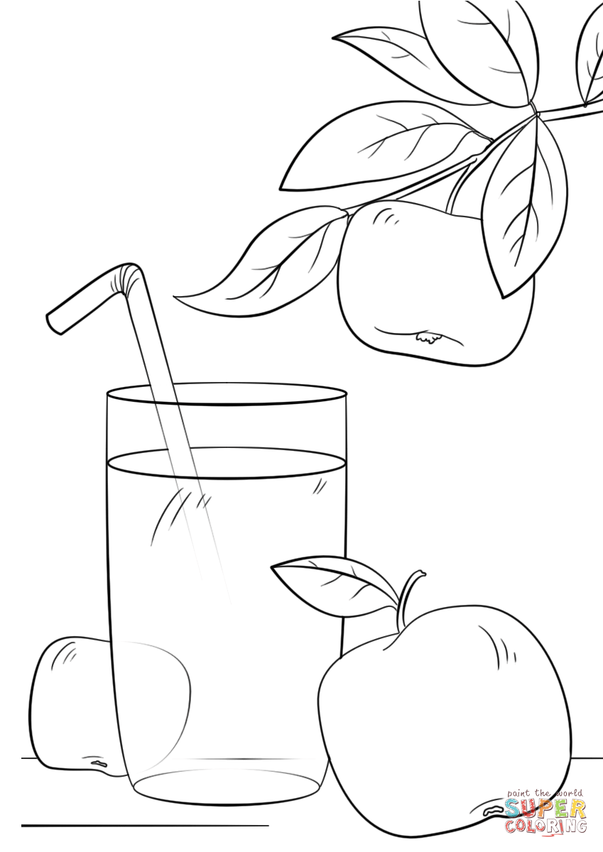 Click the apple juice coloring