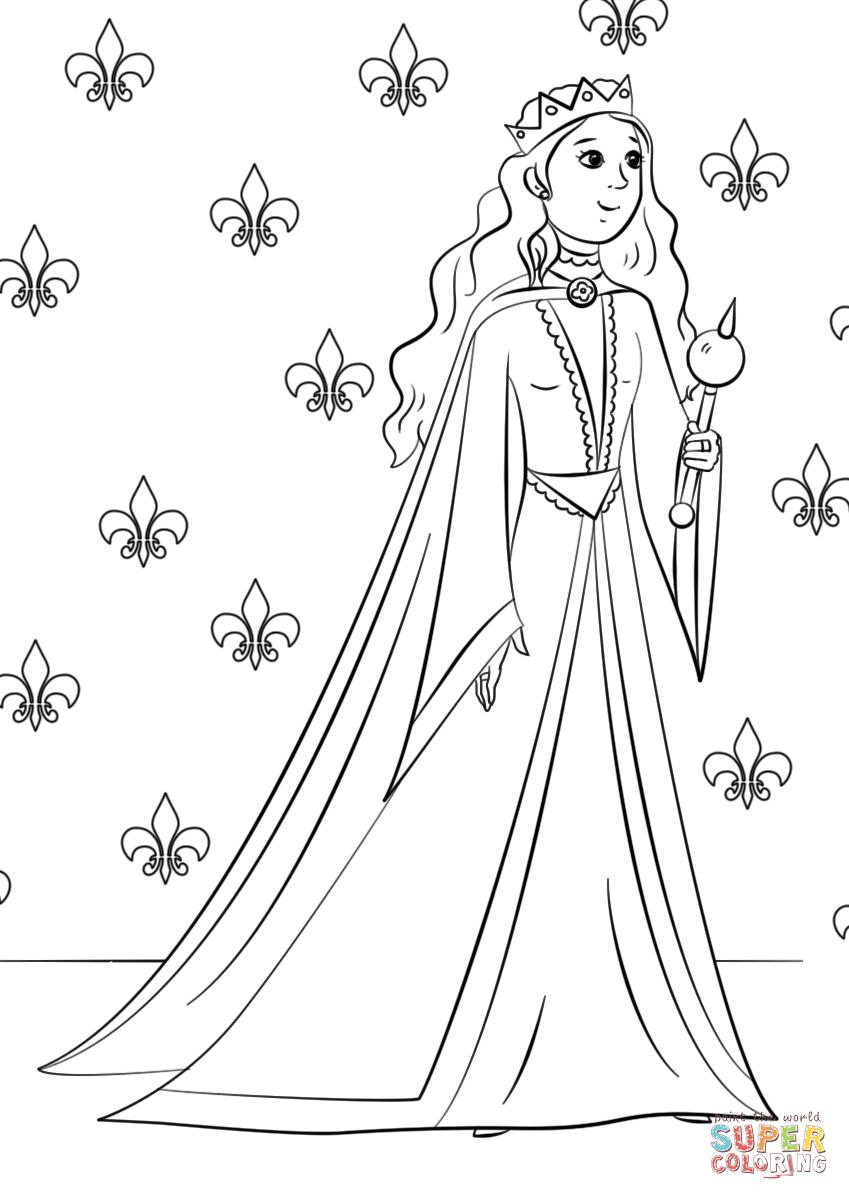 coloring pages queen elizabeth