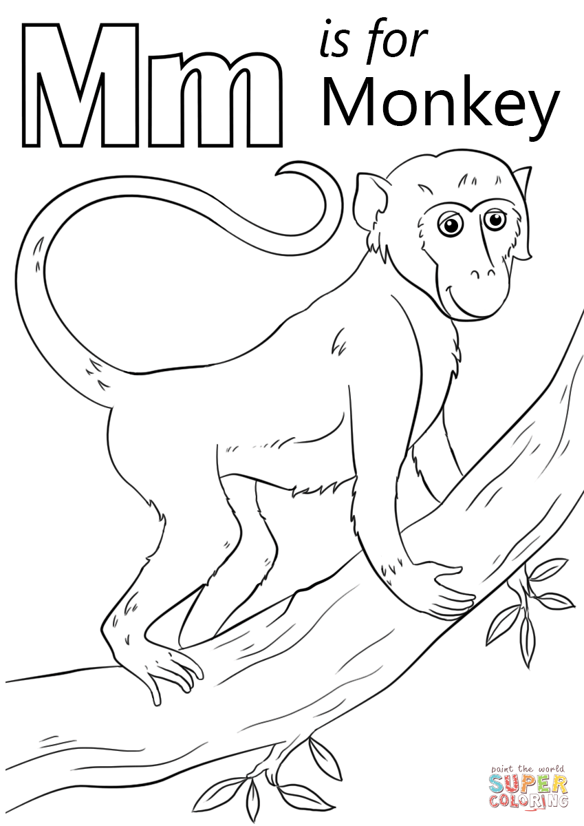 letter m coloring pages preschool