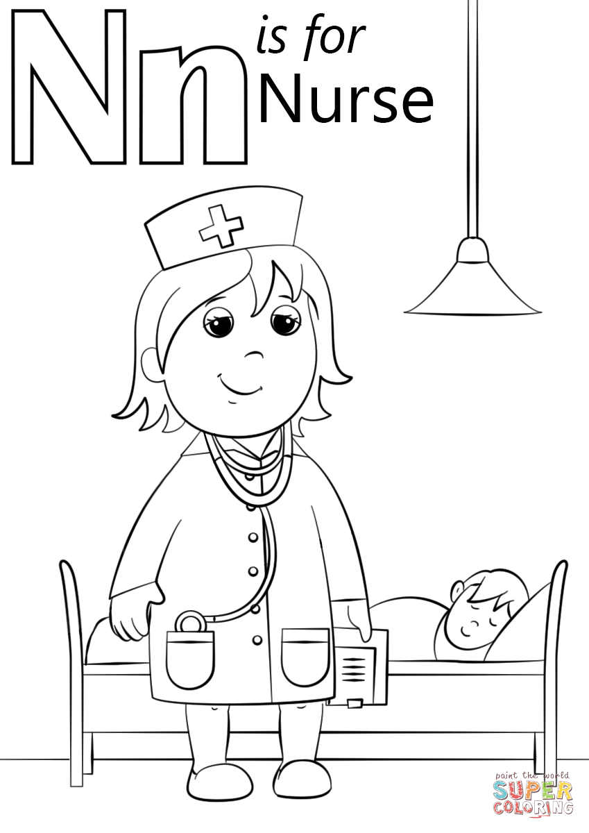 Free coloring page letter n - Download
