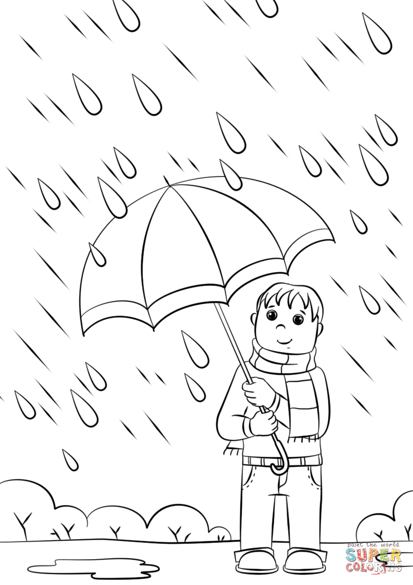 Click the rainy day coloring pages to view printable version or color it online compatible with ipad and android tablets