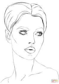 Face Coloring Pages Woman S Face Coloring Page