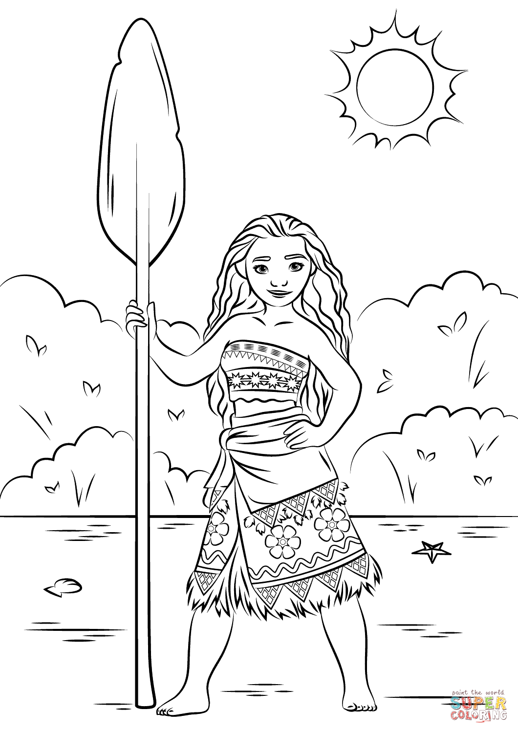 Click the princess moana coloring pages to view printable version or color it online compatible with ipad and android tablets