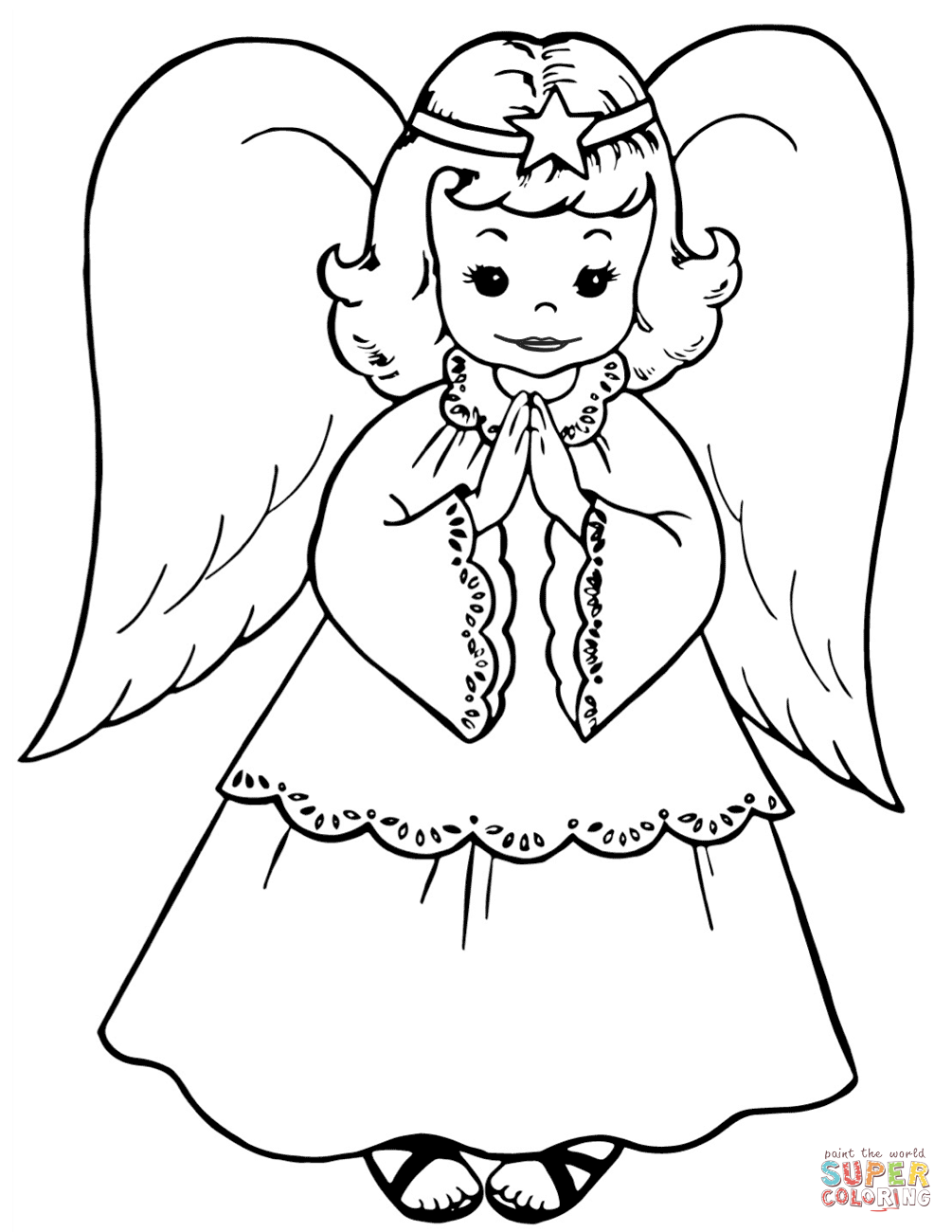 63 Angels Friends Coloring Pages