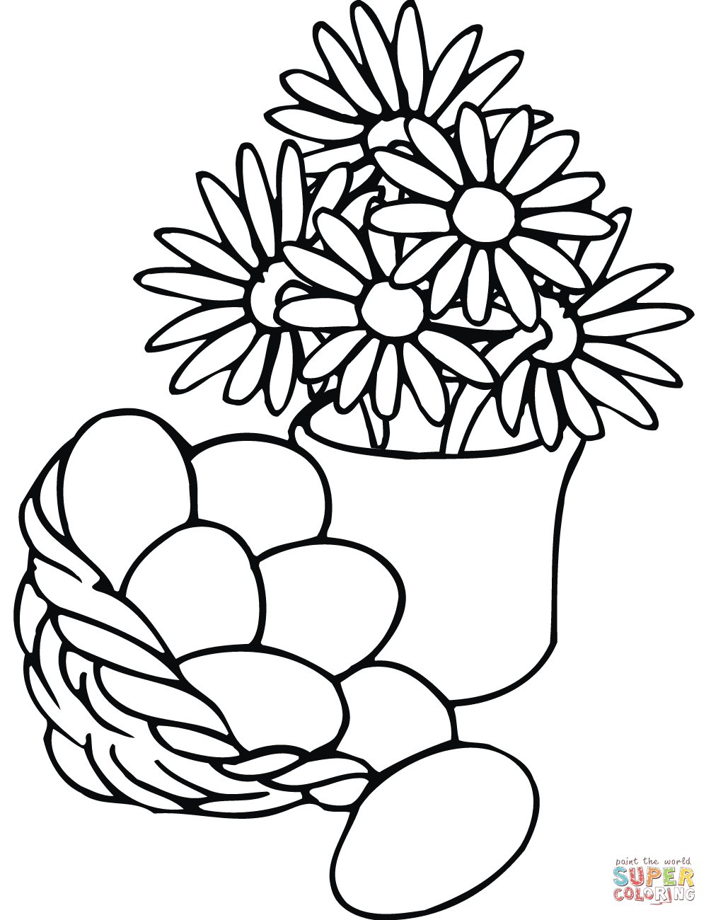 printable coloring pages vase
