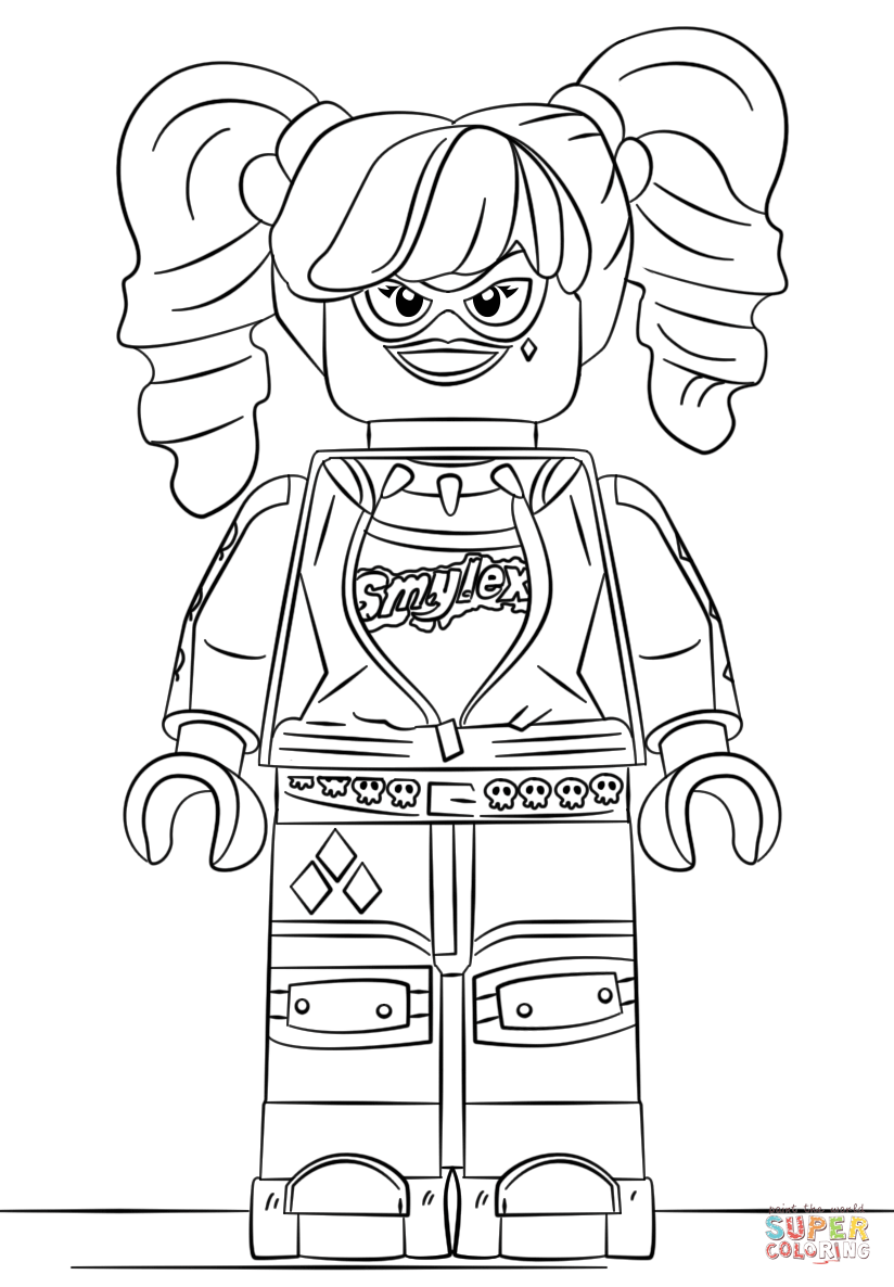 Click the lego harley quinn coloring pages to view printable version or color it online compatible with ipad and android tablets