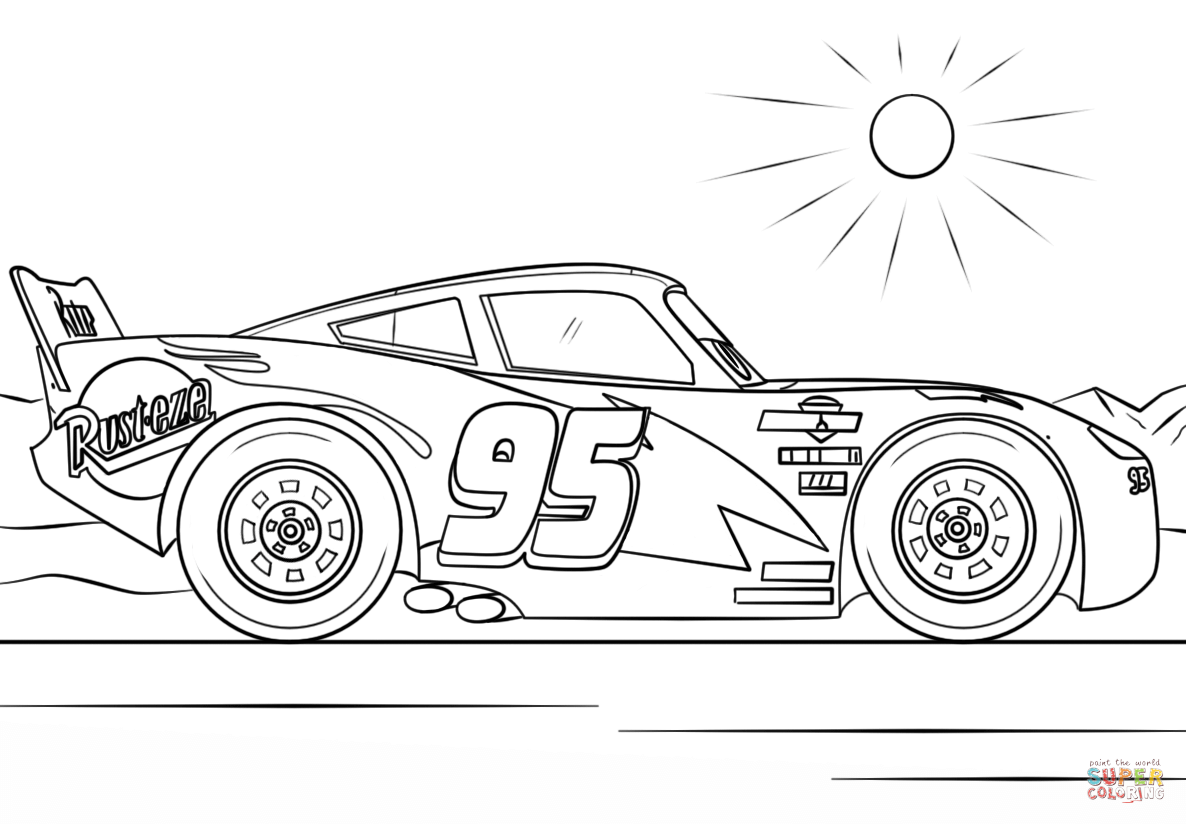 Free coloring page lightning mcqueen - Free Coloring Page Lightning Mcqueen Lightning Mcqueen From Cars 3 Coloring Pages Download