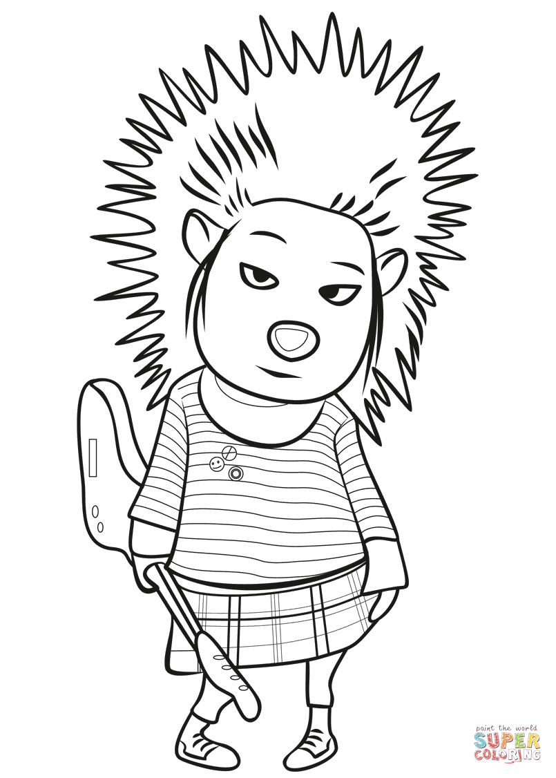 great porcupine coloring pages picture. balancing porcupine coloring ...