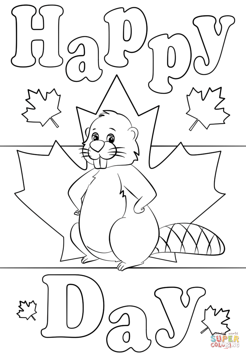 click the canadian beaver coloring page to view printable version or