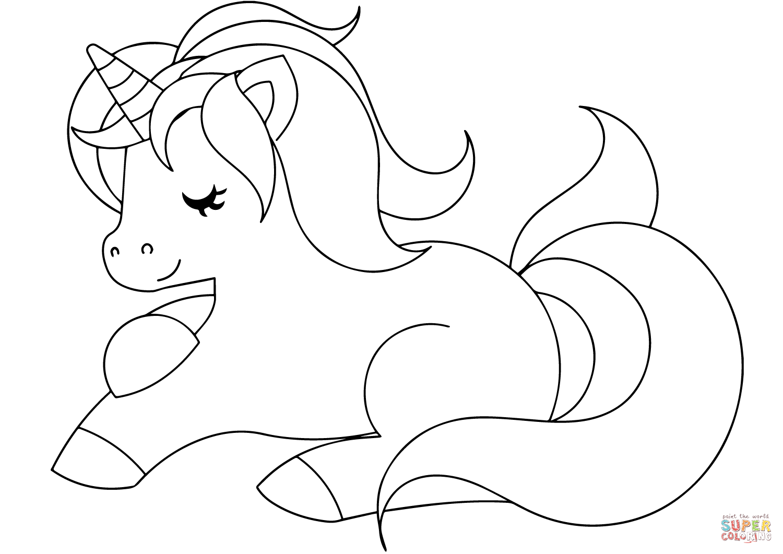 84 Cute Unicorn Coloring Page 615