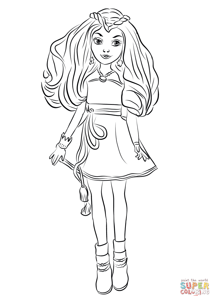 Descendants Wicked World Coloring Pages To View Download