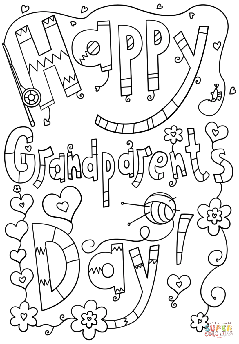 free coloring pages grandparents day