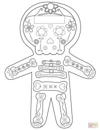 Dia De Los Muertos Skeleton coloring page | Free Printable ...