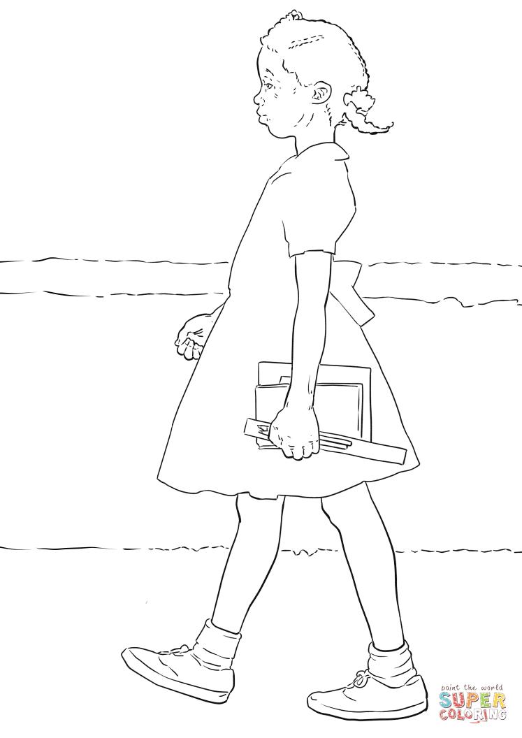 Ruby Bridges Coloring Page - Eskayalitim