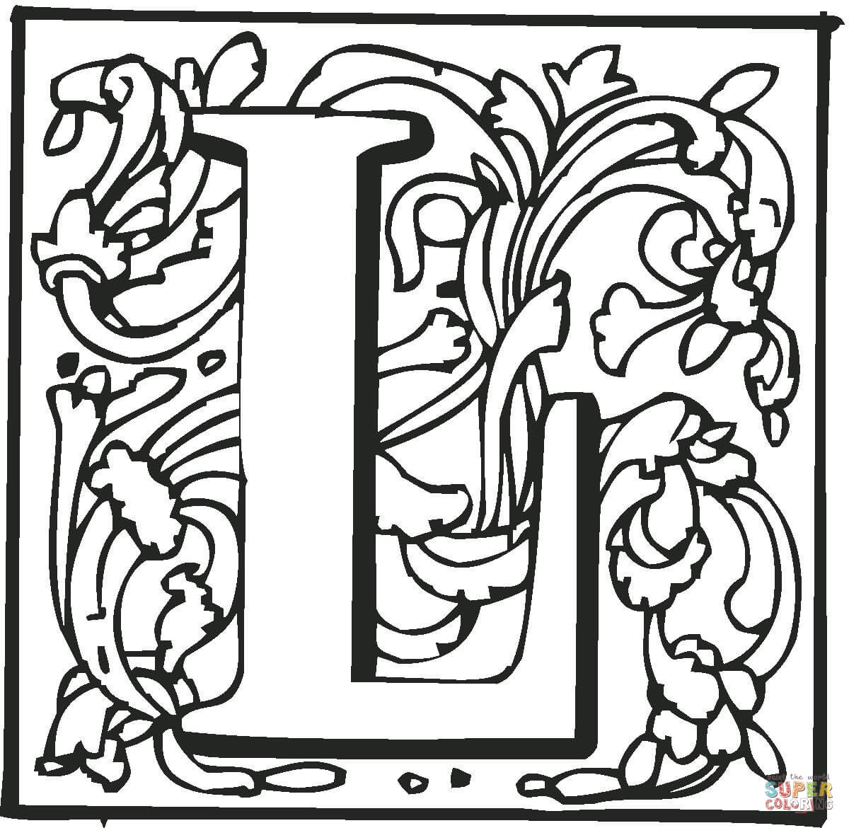 Letter l with ornament