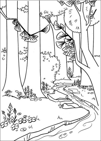 A River In The Forest coloring page Free Printable Coloring Pages