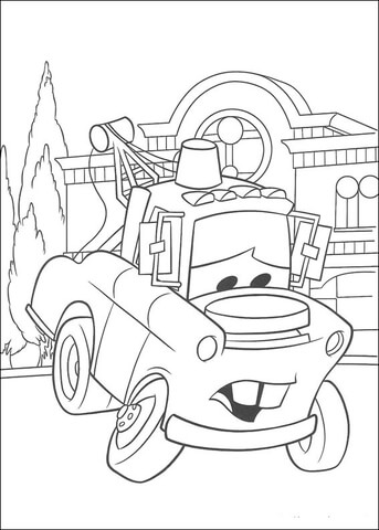 Mater Looks Sad coloring page Free Printable Coloring Pages
