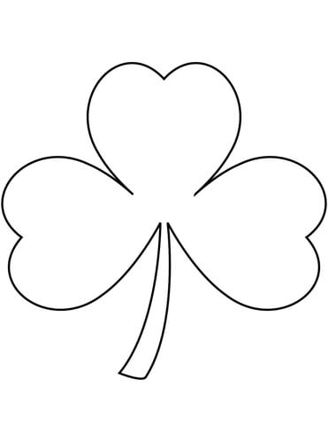 Shamrock coloring page Free Printable Coloring Pages - shamrock color pages