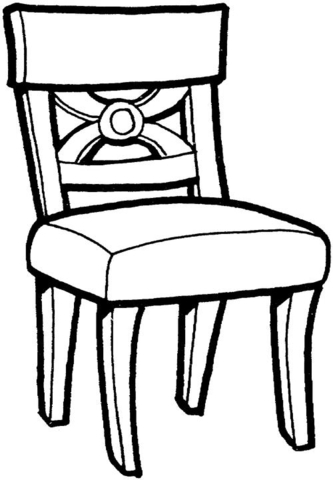 Beach Chair Coloring Page