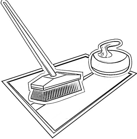 Equipment for Curling coloring page Free Printable Coloring Pages - Culring Pajis