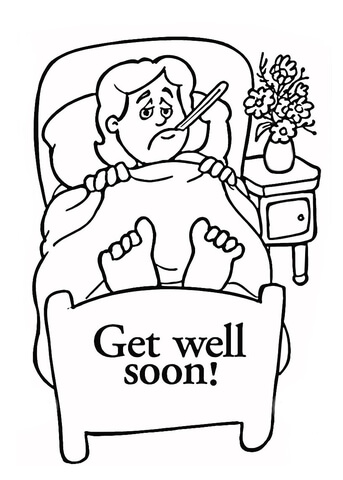 Get Well coloring page Free Printable Coloring Pages