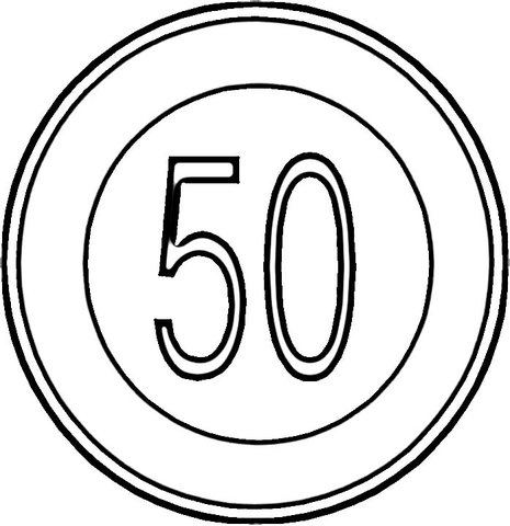 Speed Sign coloring page Free Printable Coloring Pages
