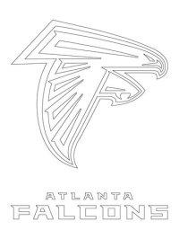 Atlanta Falcons Logo coloring page | Free Printable ...