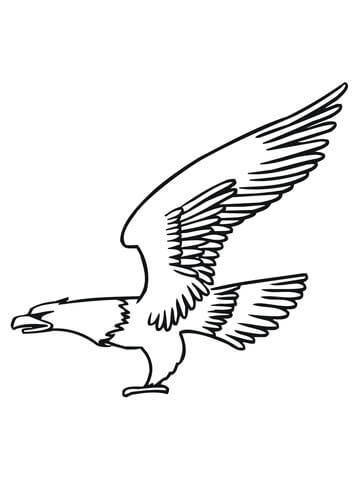 Bald Eagle Fly coloring page Free Printable Coloring Pages