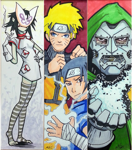 Japanese Anime and Comics Bookmarks Free Printable Papercraft
