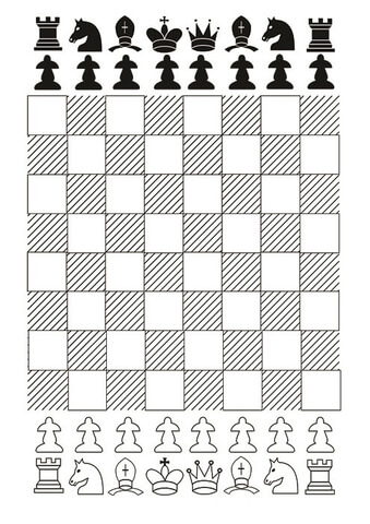 Images of Printable Chess Board And Pieces - #rock-cafe
