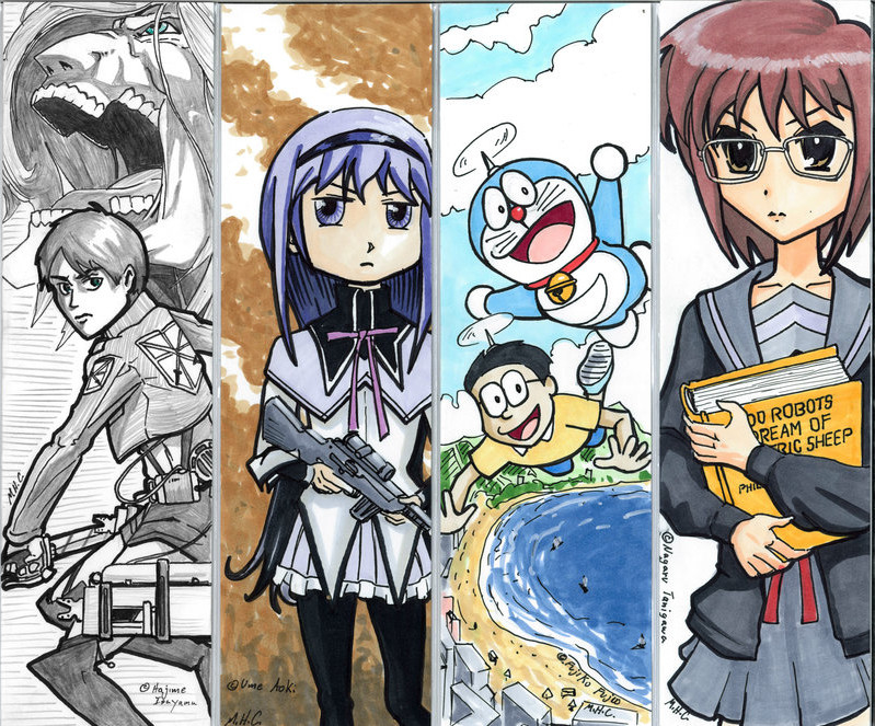 Anime Bookmarks Free Printable Papercraft Templates