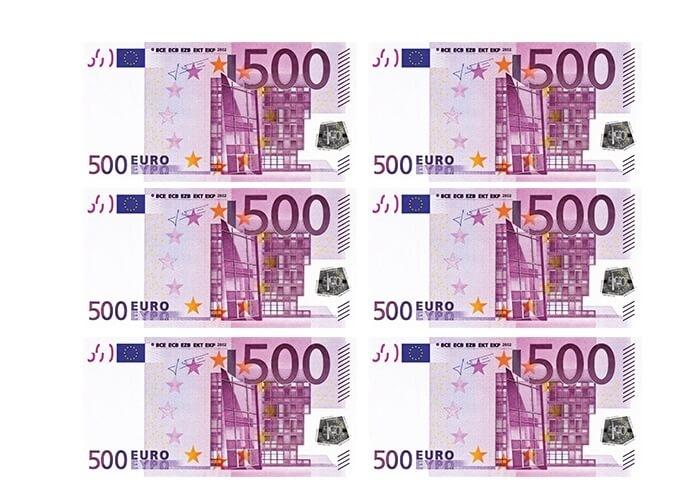 500 Euro Banknote Printable Template Free Printable Papercraft