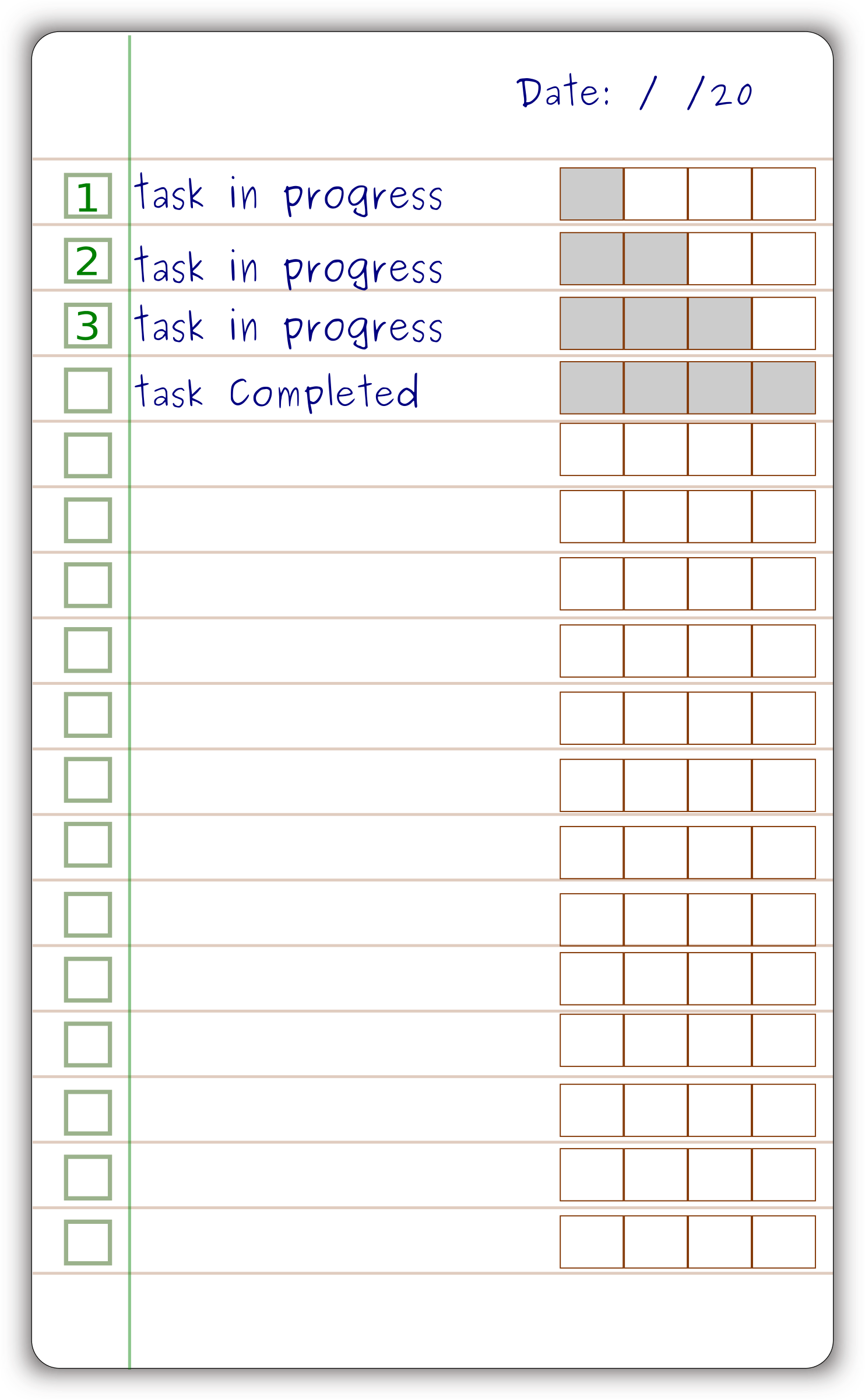 things to do form template