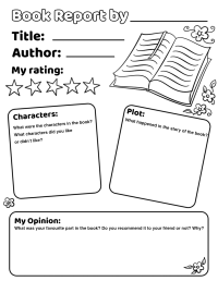 Book Report Worksheet. sandwich book report projects onion ...